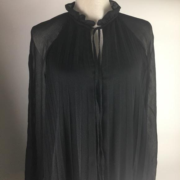 ASOS Victorian style sz 10 long black pleat dress